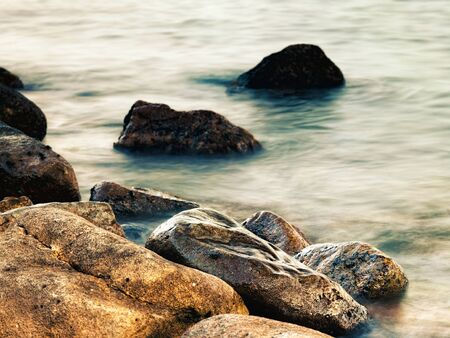 Sleeping sea, abstract natural landscape for your design photo