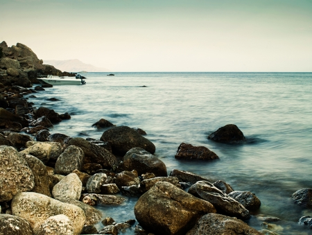 peaceful background: Sleeping sea, abstract natural landscape for your design