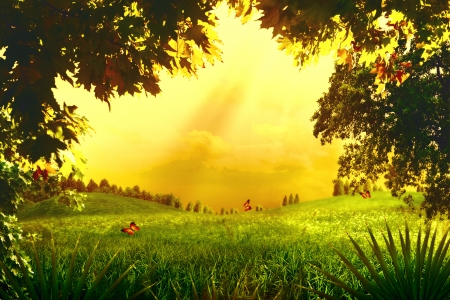 Magic Forest. Abstract environmental backgrounds for your design