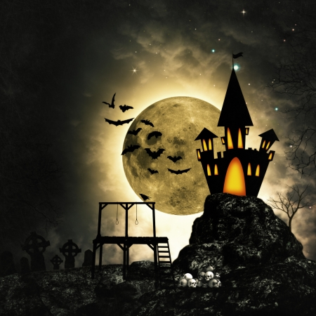 autumn scene: Grungy horror and mystery backgrounds for your design