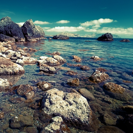 Day time on the sea, natural landscape for your design photo