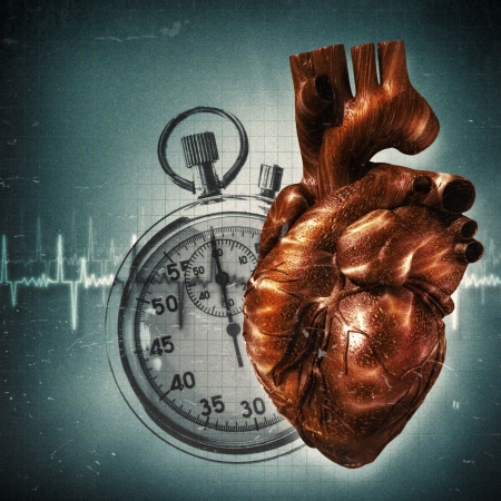 Your time is up! Grungy health and medical backgrounds Stock Photo - 22968788