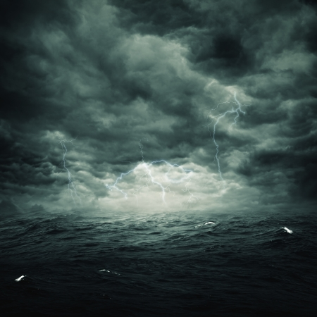moody sky: Stormy ocean, abstract natural backgrounds for your design Stock Photo