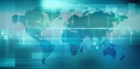 puls: Abstrakcyjne techno tła z mapę Ziemi do projektowania