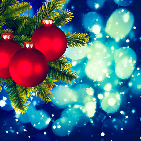pastiche: Christmas backgrounds. Art oil painting stylization for your design Stock Photo