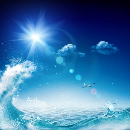 In the ocean, abstract environmental backgrounds for your design 写真素材