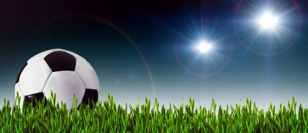 Football and soccer banner for your design Foto de archivo