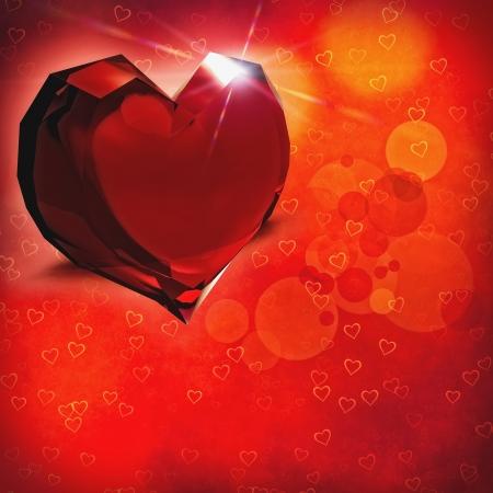 corazon cristal: Coraz�n cristalino. Antecedentes de San Valent�n abstractas