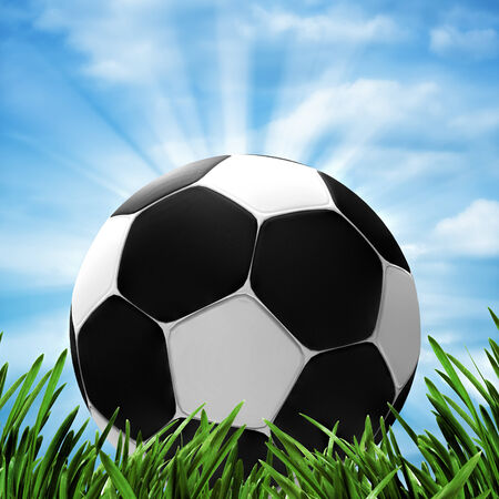 Soccer and football. Abstract sport backgrounds for your design photo