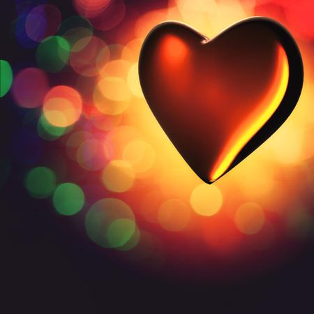 corazon cristal: Coraz�n cristalino. San Valent�n de fondo para su dise�o