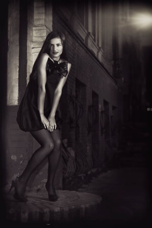 Urban Nights. Female fashion portrait photo