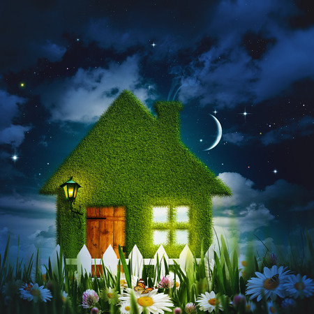 clean house: Under moonlight, abstract environmental for your design