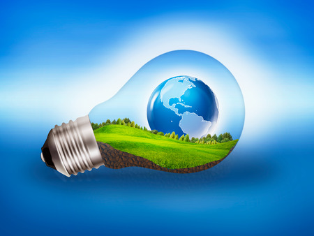 alternative energy sources: Eco Energy, abstract bower and eco backgrounds
