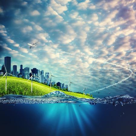 Koncepcja środowiska ekologicznego i tła dla projektu Zdjęcie Seryjne