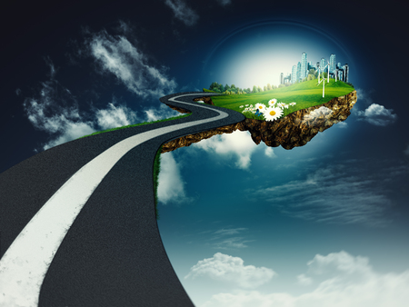 clean house: Road to another world, abstract environmental backgrounds