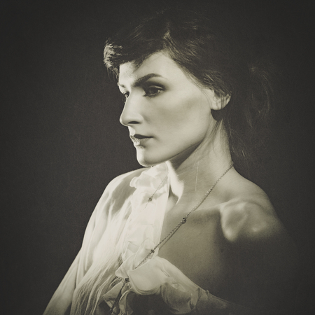 Beauty. Retro female portrait for your design photo