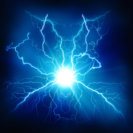 thunder storm: Electric lighting effect, abstract techno backgrounds for your design