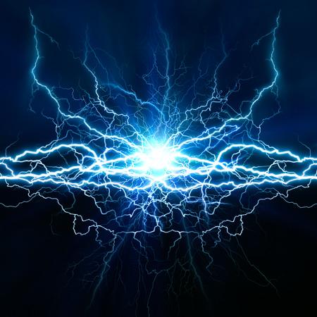 Efecto de iluminación eléctrica, fondos techno abstracto para su diseño Foto de archivo