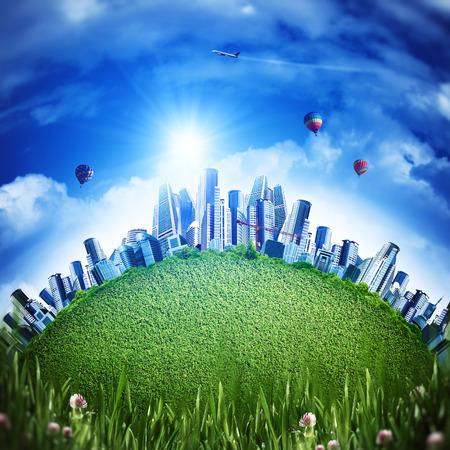 turismo ecologico: Concepto de transporte ecológico global para su diseño
