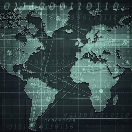 website traffic: Global internet communications, abstract industrial backgrounds