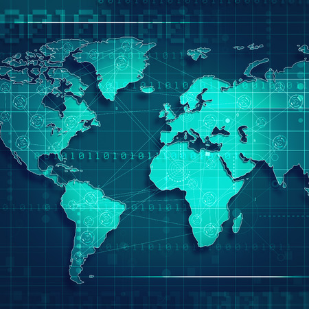global trade: Global trade and communication backgrounds for your design