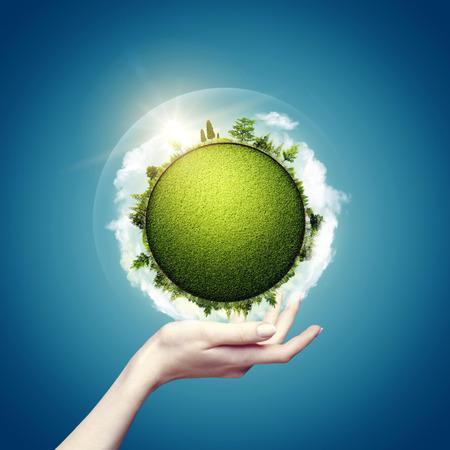 el mundo en tus manos: Mundo verde en nuestras manos, los fondos eco de fondo para su dise�o