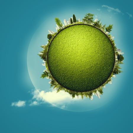 turismo ecologico: Green Planet, fondos ambientales abstractos para su diseño Foto de archivo