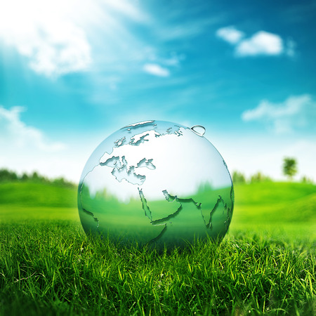 purify: Clear Earth Concept. Abstract environmental backgrounds for your design Stock Photo