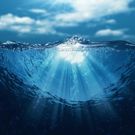 Mundo submarino, fondos marinos abstractos para su diseño Foto de archivo - 28983465