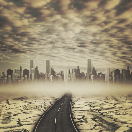 mainline: Road to the devils city, abstract backgrounds