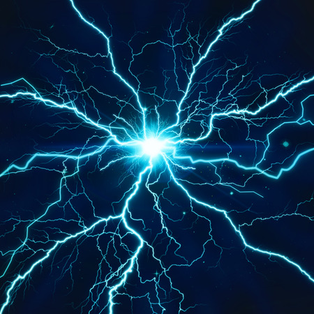 Electric lighting effect, abstract techno background