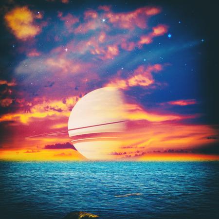 parallel world: Parallel Universe, fantastic landscape for your design