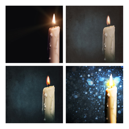 candle flame: Set of grungy holidays backgrounds for your design