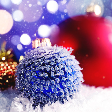 Abstract noel backgrounds with christmas balls photo