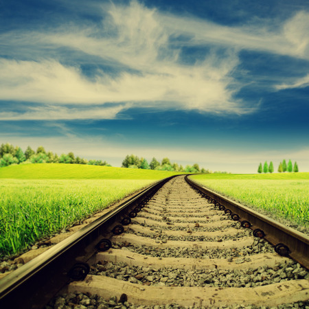 Railroad. Abstract rural landscape for your design photo