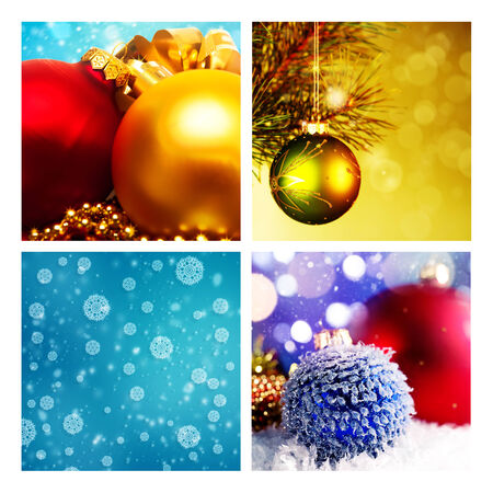 Set of assorted christmas backgrounds for your design photo