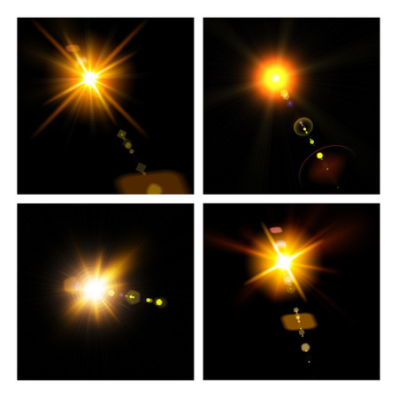 Abstract lights set for your design photo