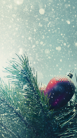 Abstract seasonal backgrounds with christmas decorations and beauty bokeh photo