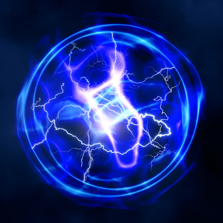 thunder: abstract power and electricity backgrounds for your design Stock Photo