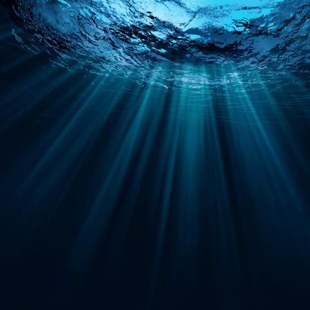 under water: Deep water, abstract natural backgrounds Stock Photo