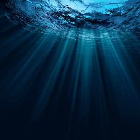 Diep water, abstracte natuurlijke achtergronden Stockfoto