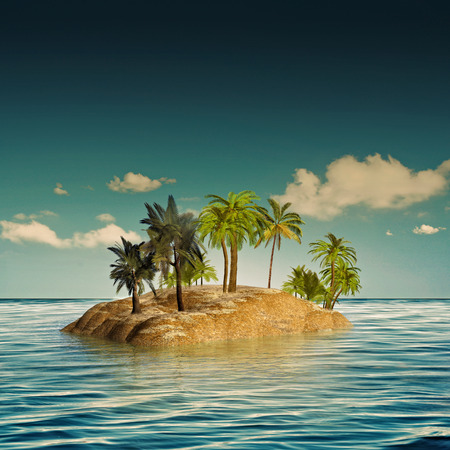 desert island: beauty island in the sea, abstract travel backgrounds Stock Photo