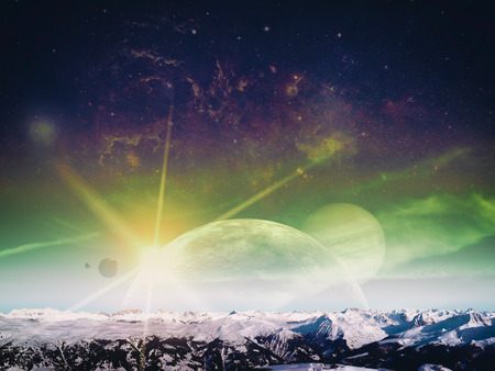 another: Another world landscape, abstract fantasy backgrounds