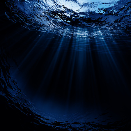 blue sea: Deep water, abstract natural backgrounds Stock Photo