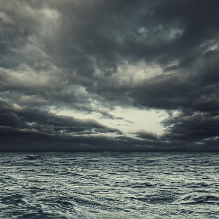 devastating: Stormy ocean, abstract natural landcape for your design Stock Photo