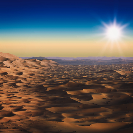 mirage: Desert. Abstract natural landscape for your design Stock Photo