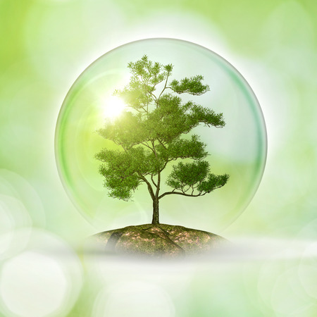 Red de planeet. abstracte natuurlijke achtergronden Stockfoto