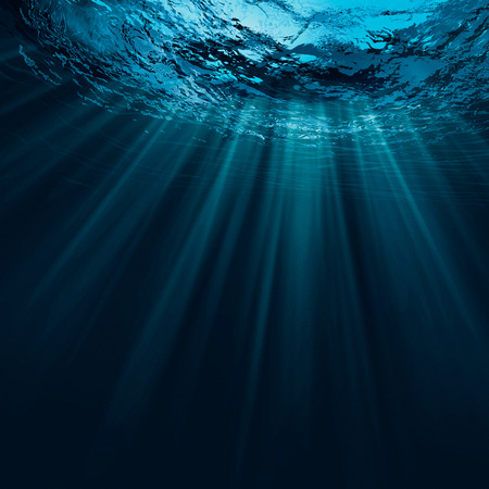 underwater: Deep water, abstract natural backgrounds Stock Photo