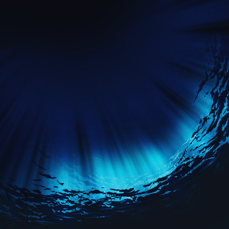 sunspot: Deep water, abstract natural backgrounds Stock Photo