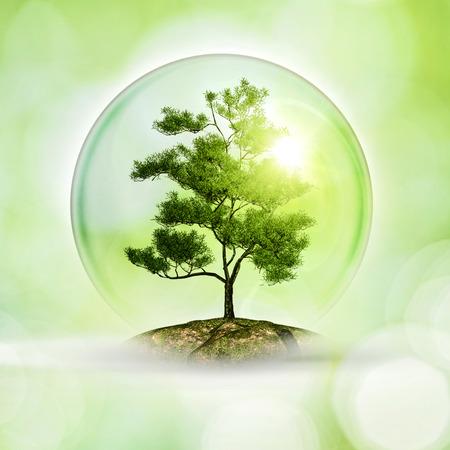 Одинокая планета. Абстрактные экологически и экологический фон Фото со стока